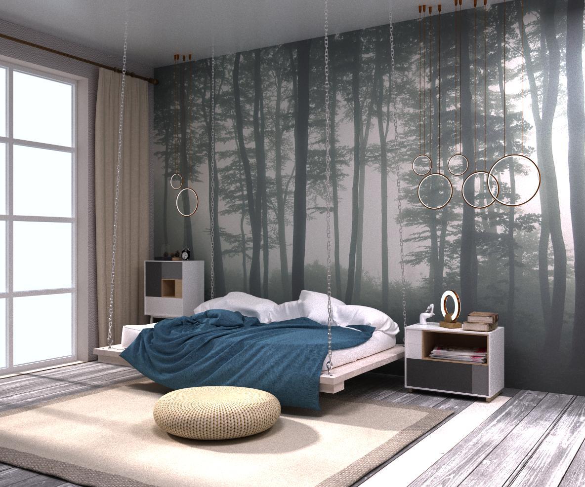 "Спальня в сучасному стилі ""Fusion with nature"" - фото 2"