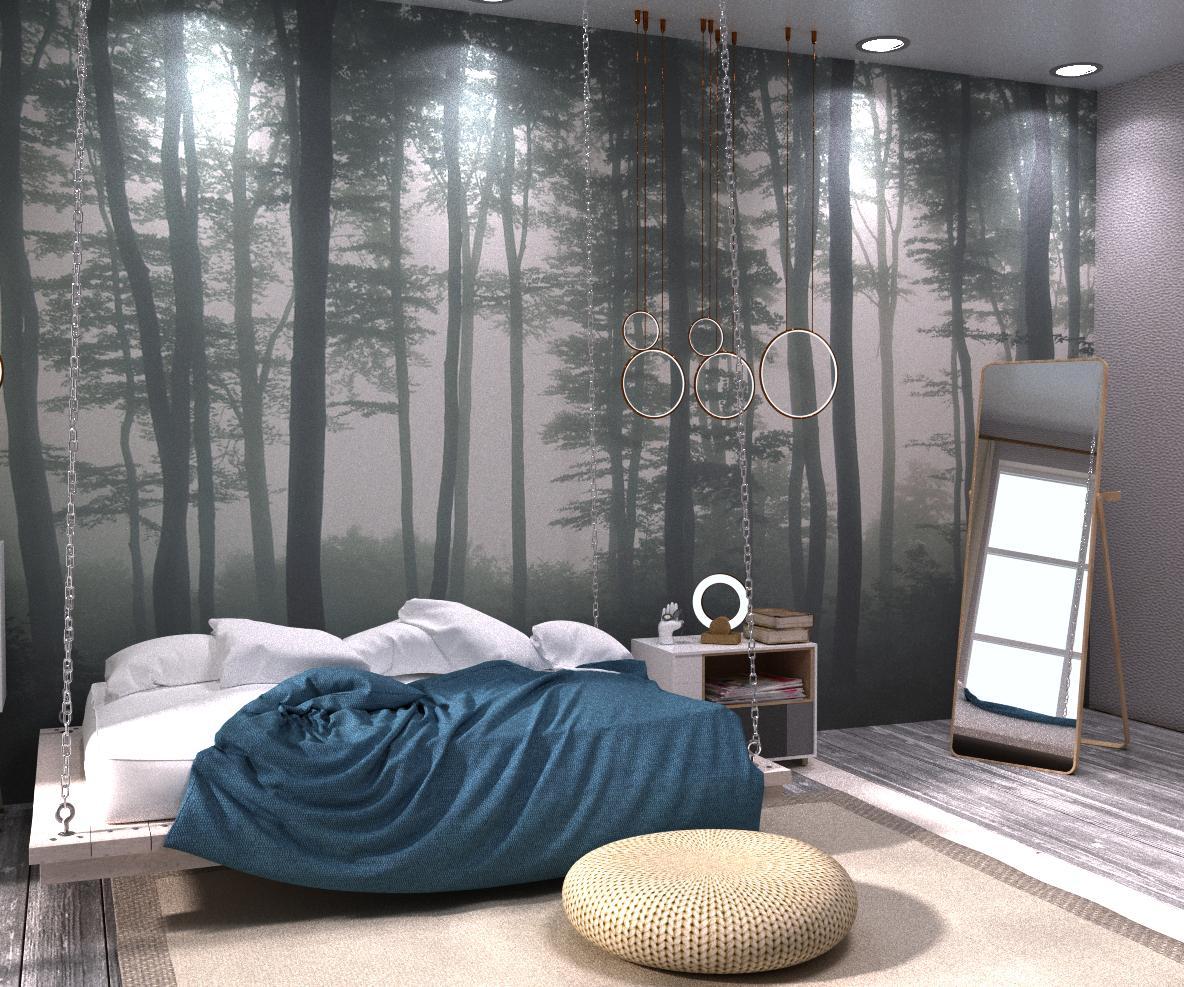 "Спальня в сучасному стилі ""Fusion with nature"" - фото 1"