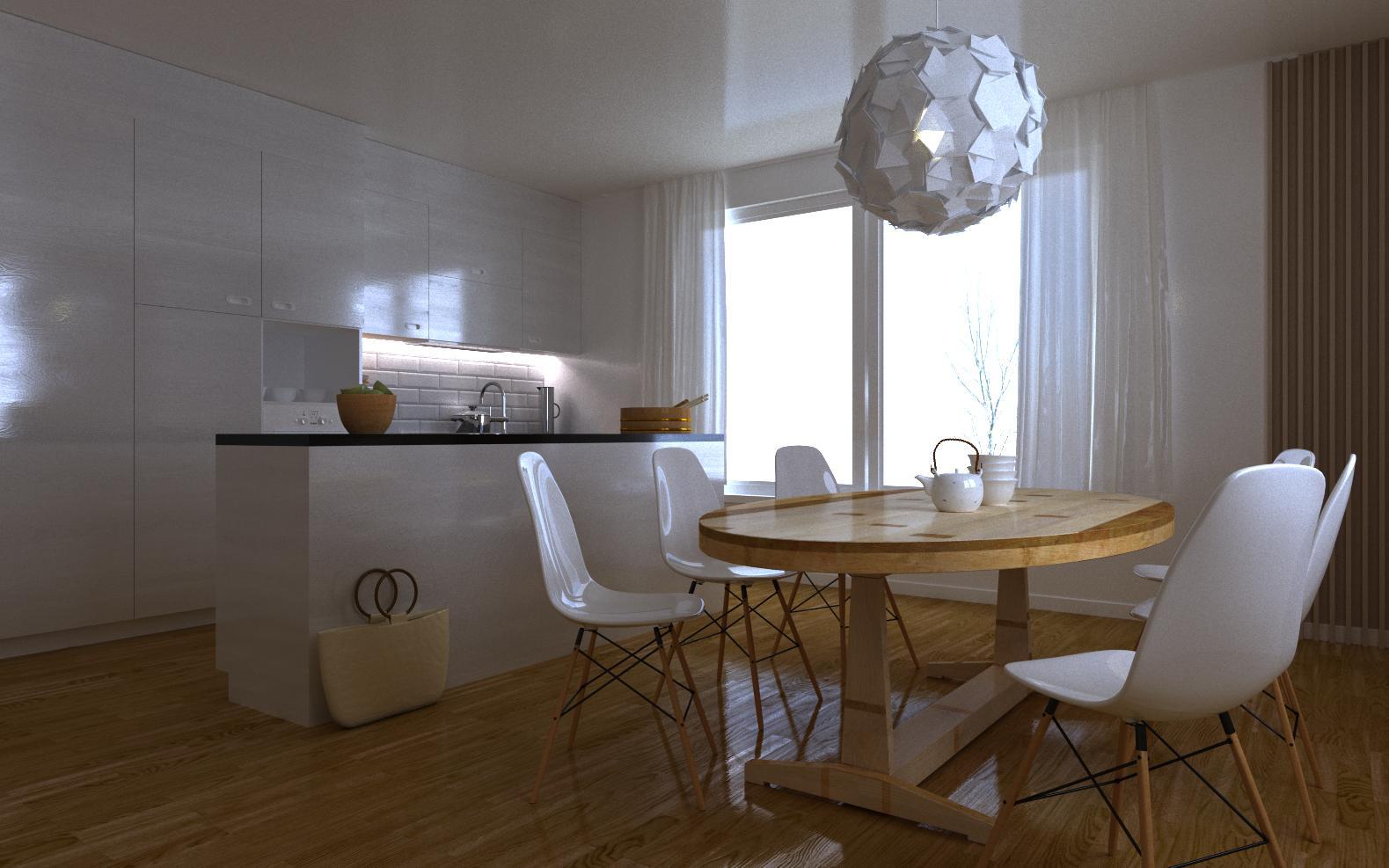 """Двухрівнева квартира в стилі """"Сучасний мікс"""""""