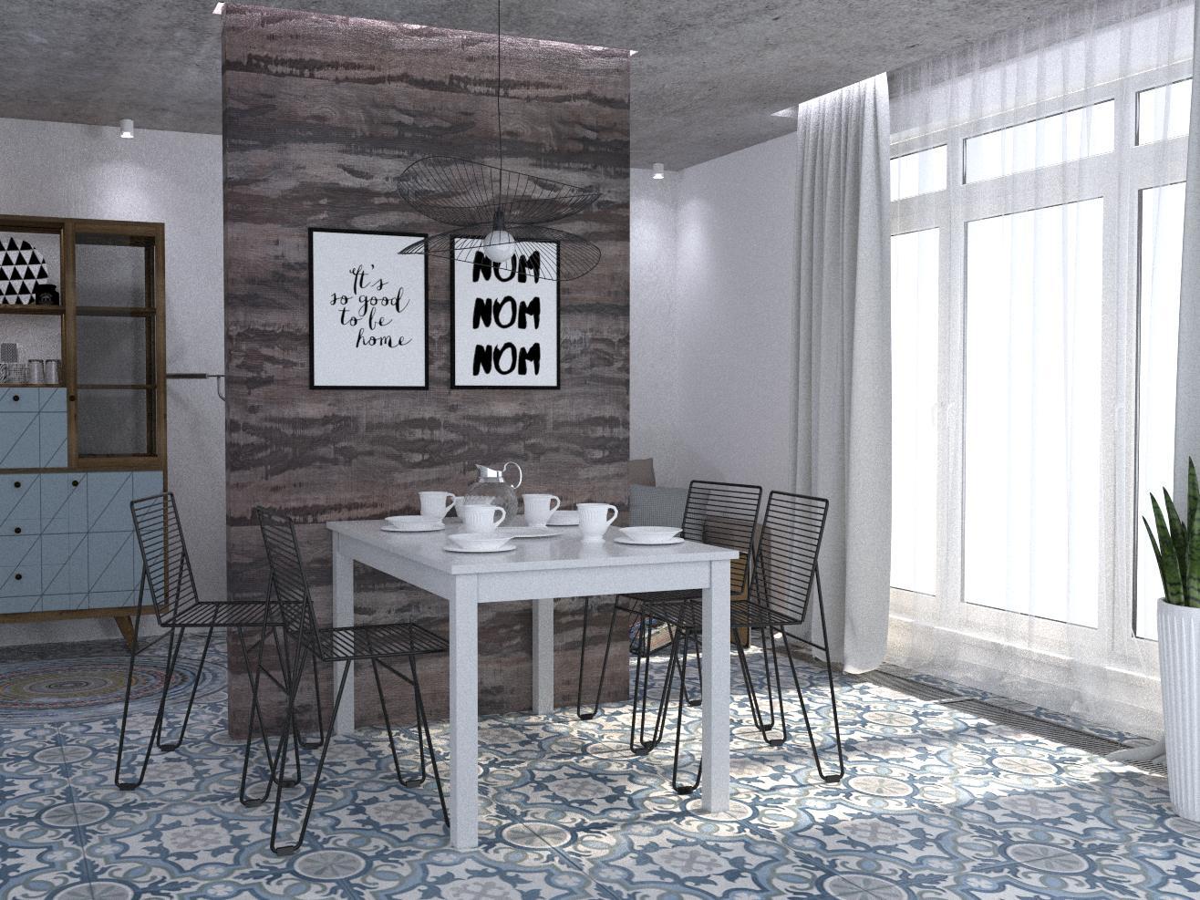 "Квартира 192 м.кв , кухня-вітальня""А combination of realities"" - фото 1"