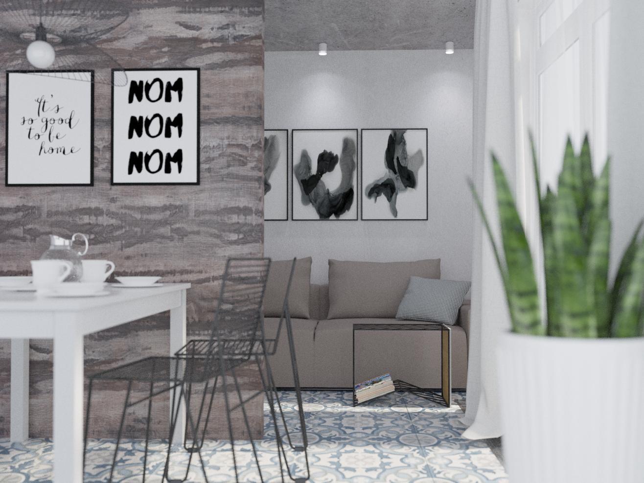 "Квартира 192 м.кв , кухня-вітальня""А combination of realities"" - фото 2"