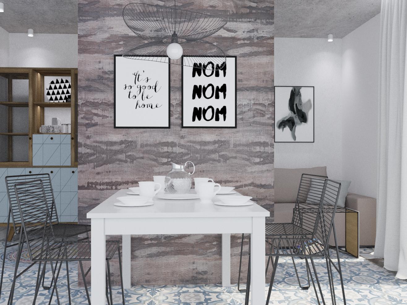"Квартира 192 м.кв , кухня-вітальня""А combination of realities"" - фото 5"