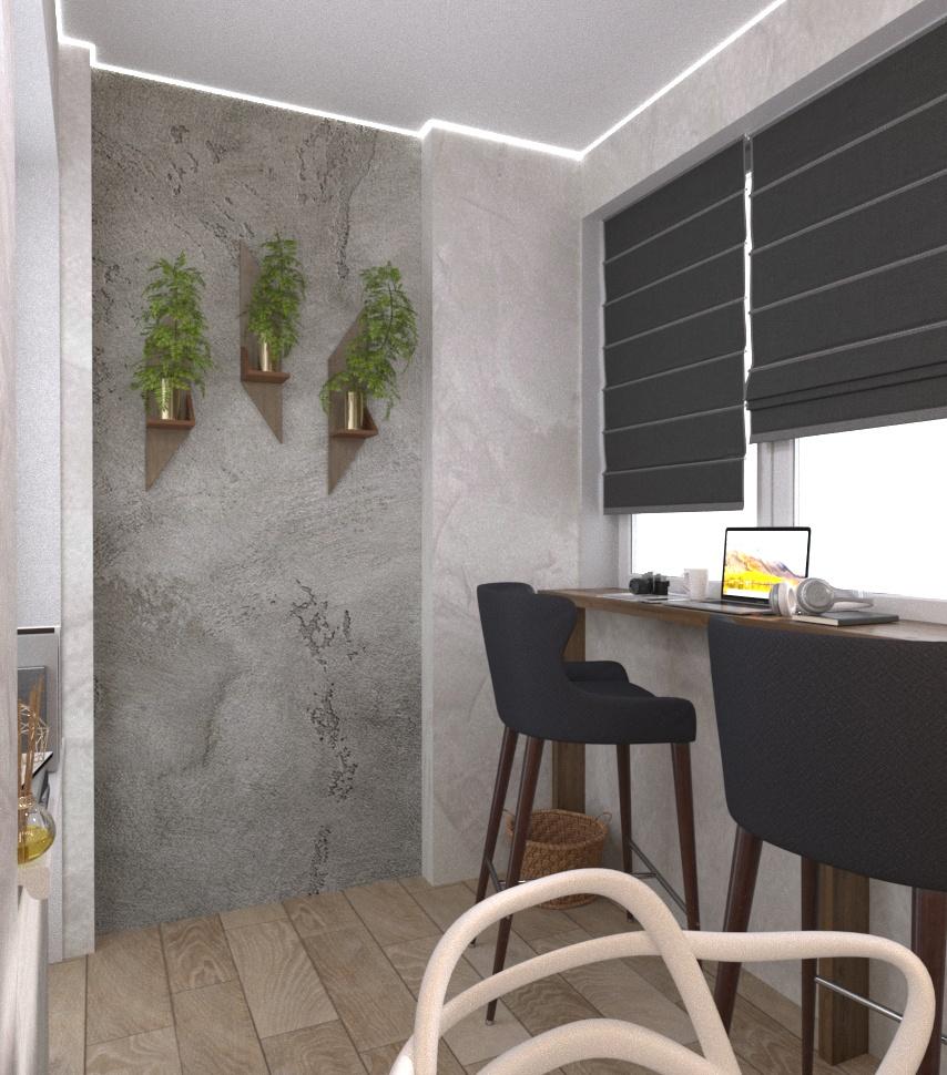 Дизайн-проект квартири Старокостянтинівське шоссе балкон - фото 2
