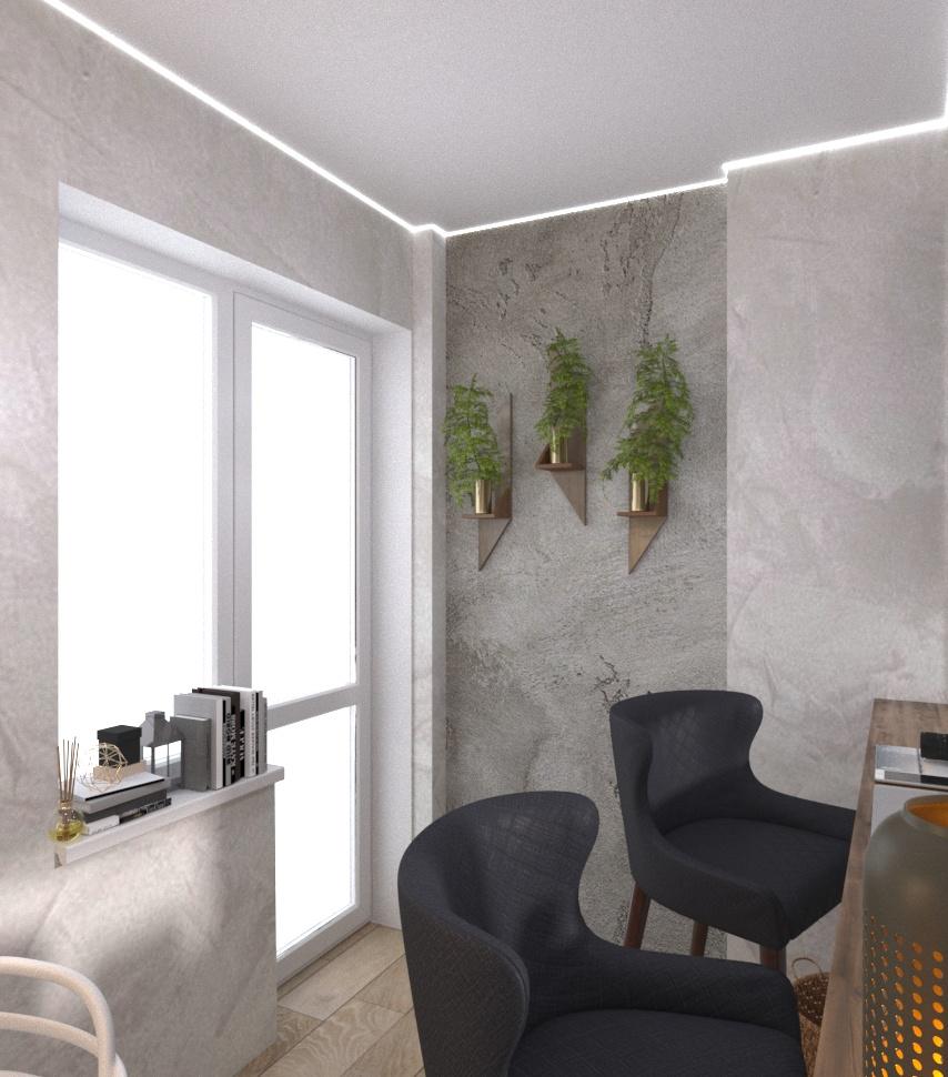 Дизайн-проект квартири Старокостянтинівське шоссе балкон - фото 4