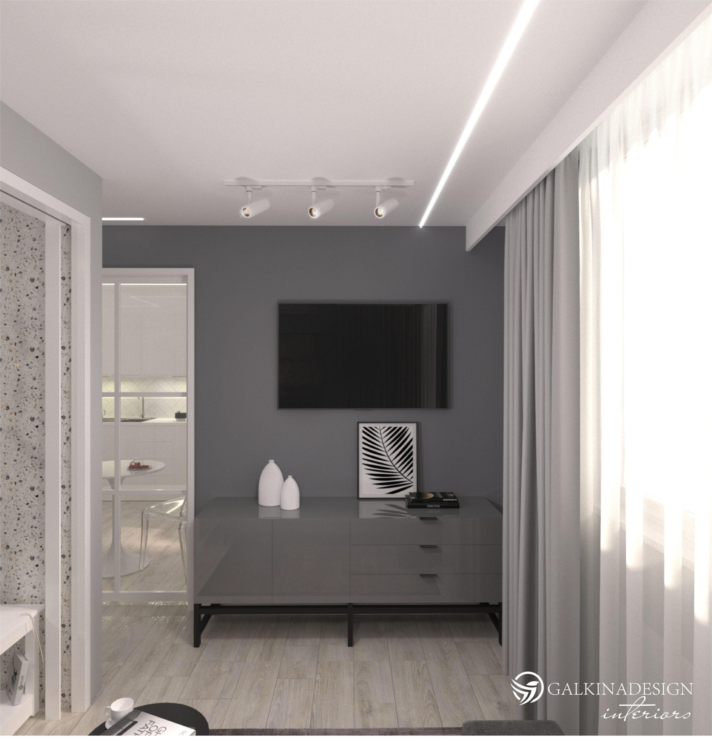 Проект квартири 47,5 кв.м по вул. Проскуровського Підпілля 165а - фото 1