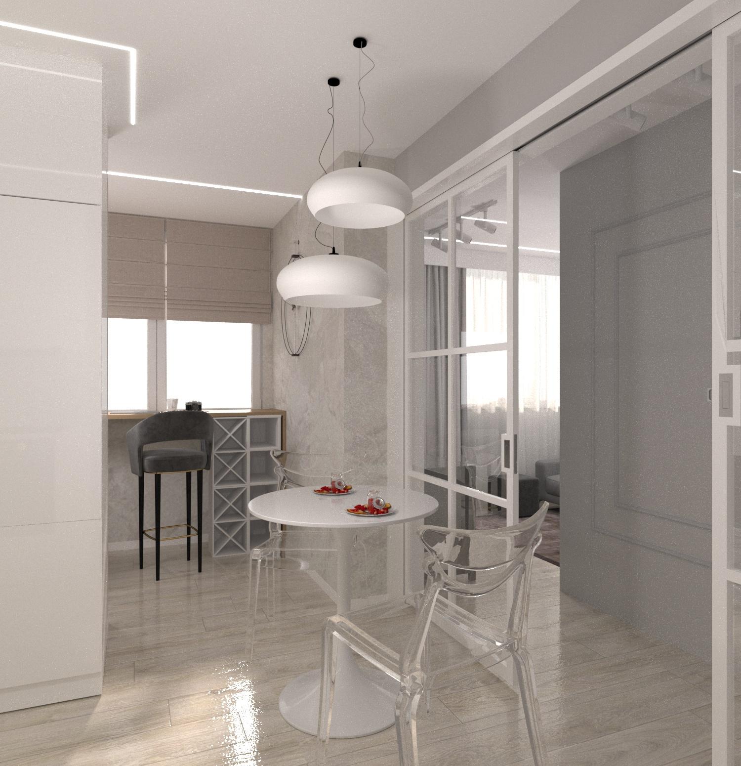 Проект квартири 47,5 кв.м по вул. Проскуровського Підпілля 165а - фото 4