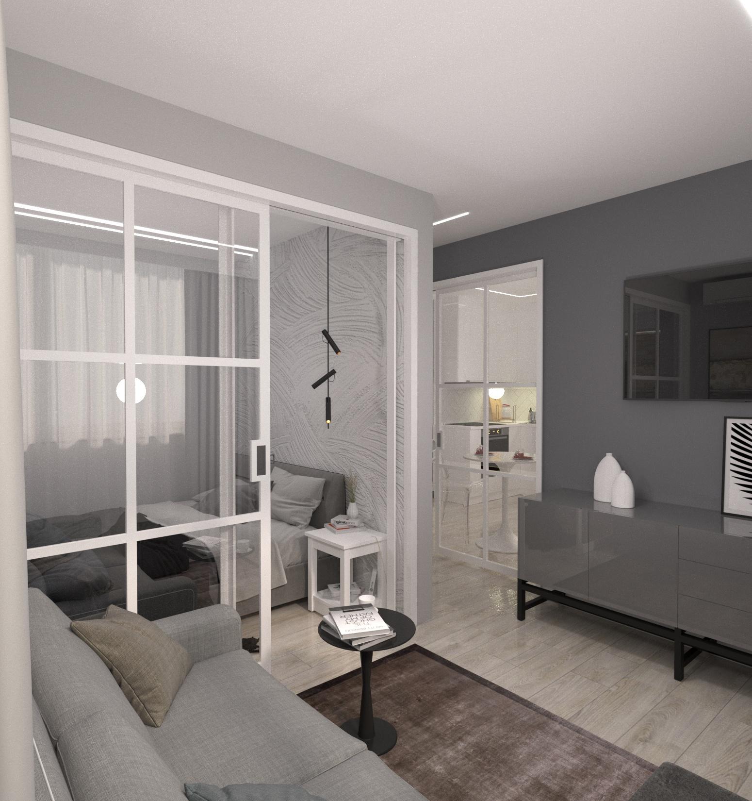 Проект квартири 47,5 кв.м по вул. Проскуровського Підпілля 165а - фото 7